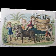 American Machinery Ice Cream freezer trade card 1880-90s