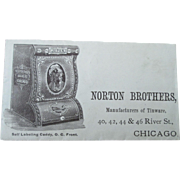 Vintage Advertising Norton Brothers Painted Tinware illustrated envelope 1880's