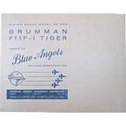 Blue Angels flying scale Grumman paper model plane mint in mailer 1957