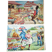 "Barker's ""Komic Picture"" Souvenir comic advertising set of 4 booklets-1900's"