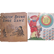 Buster Brown Shoe Game Diecut Punch-out Premium w/Sleeve-1920s
