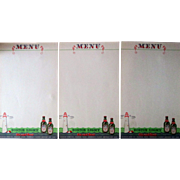 Early Boston Brewery unused bar menu lot of 10 sheets 1930's