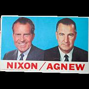 Richard Nixon & Spiro Agnew 1968 cardboard campaign poster