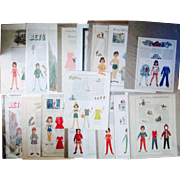 Betsy McCall magazine uncut paper dolls pages lot of 19 different circa 1960's