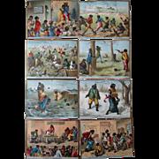 Original Black Americana Clarence Brooks Varnish Company 8 trade cards 1880's