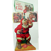 Christmas Coca Cola Santa Claus Things go Better with Coke diecut sign 1960's