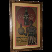Coca Cola Harlem Globetrotters Goose Tatum advertising sign 1952