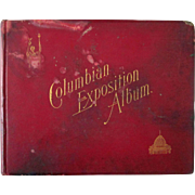 Chicago Columbian Exposition oversize souvenir album 92 pages of photos 1893