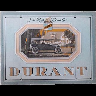 Durant Motors dealers giveaway catalog circa 1920's