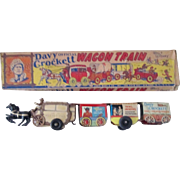 Disney Official Davy Crockett Wagon Train with box Marx Toys 1950's