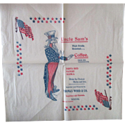 Vintage Historical 19th Century Uncle Sam's Coffee Tissue Paper Advertisement