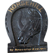 HorseHill Tools horseshoe shaped cast iron paperweight early 1900's