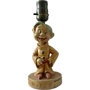 Disney Snow White's Dopey figural lamp 1938
