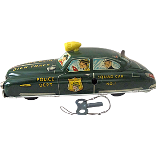 Dick Tracy No 1 Squad Car Large Marx tin windup excellent plus condition 1949