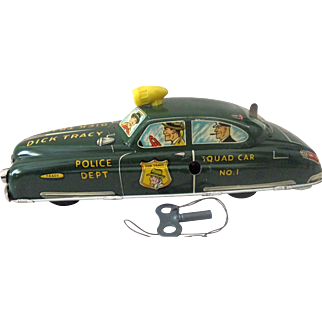 Dick Tracy No 1 Squad Car Large Marx tin windup high grade condition 1949