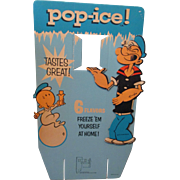 "Popeye ""POP-ICE"" large store display sign 1960's"