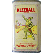 Automotive and Household Kleenall advertising tin/cardboard container 1900's