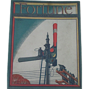 Fortune Magazine 1933 complete with 4 Full color pages Cigar Labels mint