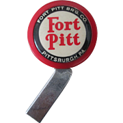 Vintage Fort Pitt Beer Tap/Knob metal shaft excellent near mint condition