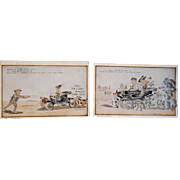 Early Ford Automobile humorous postcards circa 1920's