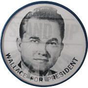"George Wallace Stand Up For America For President campaign 2"" flicker pin"