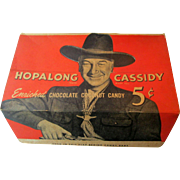 Hopalong Cassidy Chocolate Coconut candy box excellent to near mint condition circa 1950