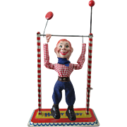 Howdy Doody Acrobat tin toy near mint condition Germany 1950's