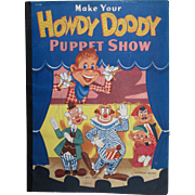 Make Your Own Howdy Doody Puppet Show punch out book 1952