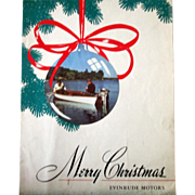 Vintage Evinrude Motors Merry Christmas advertising Sportsman sheet music 1947