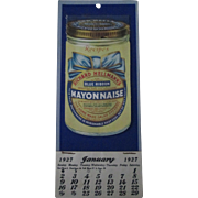 Vintage Advertising Richard Hellmans Mayonnaise 1927 recipe phamplet calendar