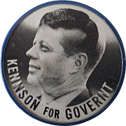 John Kennedy For President Swanson For Governor coattails flicker pin