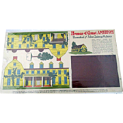 Magazine Homes of Great Americans Homestead John Quincy Adams uncut 1920's