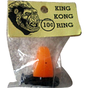 Vintage 1960's King Kong plastic premium ring mint in package