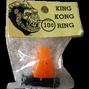 Vintage 1960's King Kong plastic premium ring mint in package