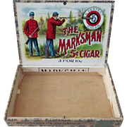 The Marksman cigar box early 1900's