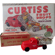 Marx Toys Curtiss Candy Truck w/box & candy & magazine ad 1948 Attic Find !!!!!
