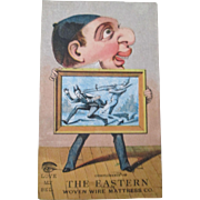 Original The Eastern Woven Wire Mattress Company trade card