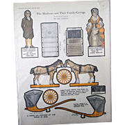 McCalls Magazine The Madison's & Family Carriage paperdoll magazine page 1923
