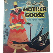Mother Goose Blue Ribbon Pop-Up Children's book 1934 excellent condition