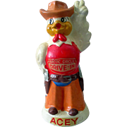 Fast Food Advertising figure ACEY the Chicken ARCTIC CIRCLE DRIVE IN coin bank 1960's