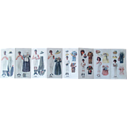Vintage Munsingwear Family paper dolls uncut folder early 1900's
