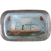 Advertising paperweight Maine Steamship Company early 1900's