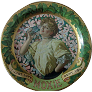 "Moxie soda advertising 6"" tin tip tray early 1900's"