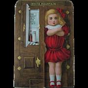 White Mountain Ice Box Refrigerators diecut trade card 1880-90's near mint condition