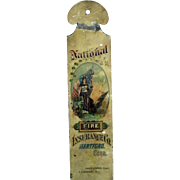 National Fire Insurance scarce original painted stenciled ledger marker circa 1870-80's