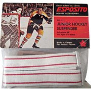 National Hockey League  Phil and Tony Esposito Junior Hockey Suspenders mint in pack 1970's