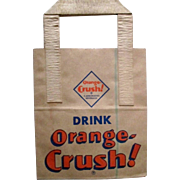 1950's Orange Crush Soda Paper Bag 6 PACK w/ Al Capp Li'l Abner comic scenes