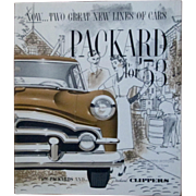 1953 Packard and Packard Clipper dealer color promotional poster