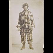 Prince Albert Tobacco Pocket Tin Man scarce real photo post card
