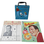 Pat Boone instant collection mint uncut paperdolls-sealed bookcovers-record case